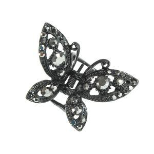 Cleste metalic fluture negru