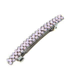 Clama metalica cu pietre roz