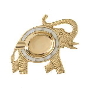Scrumiera din metal si sidef in forma de elefant
