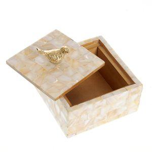Cutie de bijuterii din lemn cu sidef