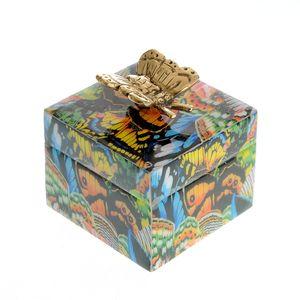 Cutie de bijuterii din lemn model fluturi