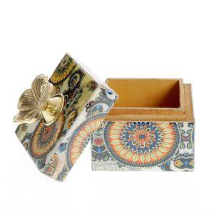 Cutie de bijuterii din lemn model mandala