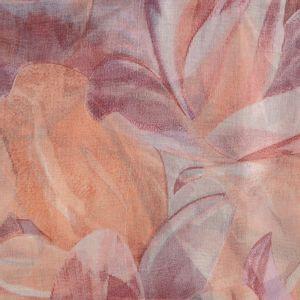 Esarfa lunga din matase cu imprimeu floral
