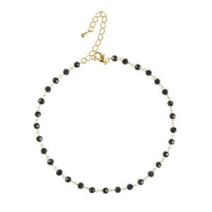Bratara de picior cu cristale acrlice negre