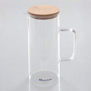 Carafa din sticla si capac din bambus 1.5l