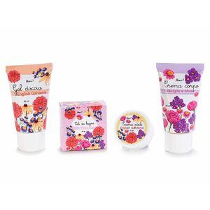 Mini set 4  produse de baie cu gardenie