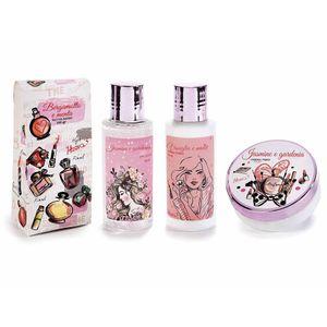 Set cosmetice design papuc roz