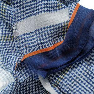 Esarfa cadrilata nuante albastre