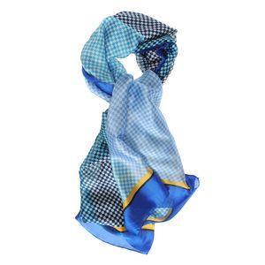 Esarfa in nuante albastre cu romburi