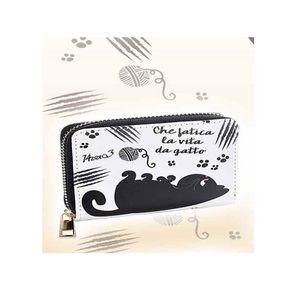 Mini portofel pisica neagra