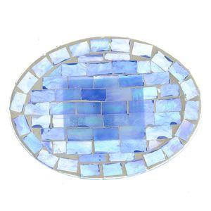 Savoniera mozaic rotunda albastra