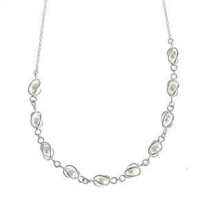 Colier din argint cu perle acrilice