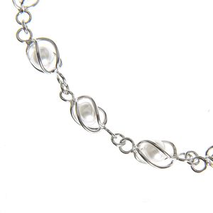 Bratara din argint cu perle acrilice
