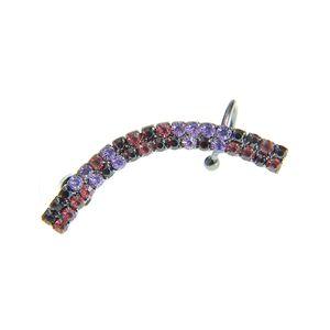 Cercel ear cuff cu pietre acrilice multicolore