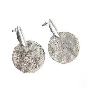 Cercei argintii cu discuri