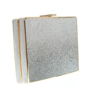Geanta plic in doua nuante si detalii aurii
