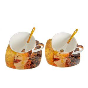 Set 2 cesti de cafea cu farfurie Gustav Klimt