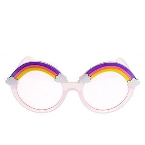 Ochelari de soare roz cu curcubeu