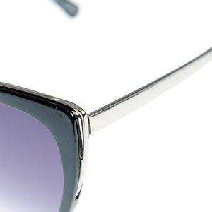 Ochelari de soare cat-eye cu contur argintiu