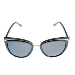 Ochelari de soare cat-eye cu detalii aurii