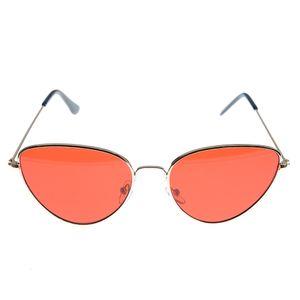 Ochelari de soare cat-eye cu lentile rosii