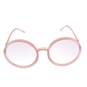 Ochelari de soare rotunzi cu lentile roz