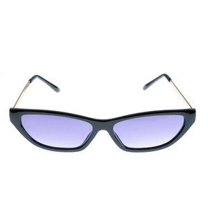 Ochelari de soare negri cu lentile ovale