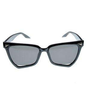 Ochelari de soare asimetrici cu rama neagra