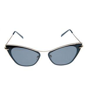 Ochelari de soare cat-eye cu contur auriu