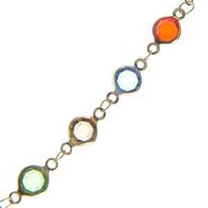 Snur pentru ochelari cu pietre acrilice multicolore
