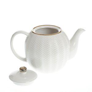 Ceainic alb din ceramica