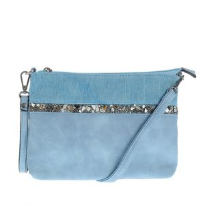 Plic bleu cu design din pietre colorate