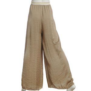 Pantaloni kaki cu talie elastica