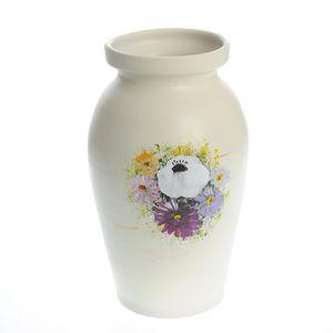 Vaza mare din ceramica cu flori  30 cm