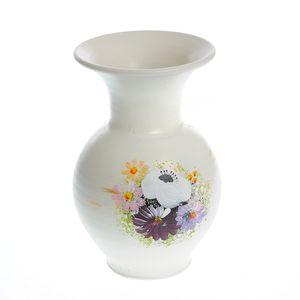 Vaza ceramica cu flori multicolore 21 cm