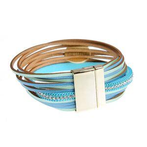 Bratara albastra cu inchidere magnetica