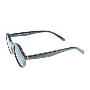 Ochelari de soare negri cu lentile rotunde