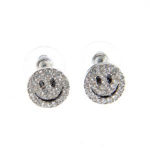 Cercei argintii cu Smiley Face