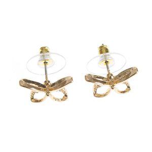 Cercei design fluture auriu
