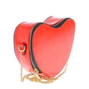 Geanta de umar rosie cu design inima