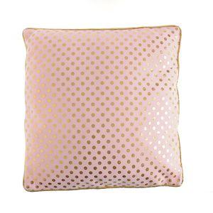 Perna roz cu buline aurii
