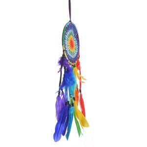 Dreamcatcher cu pene  multicolore
