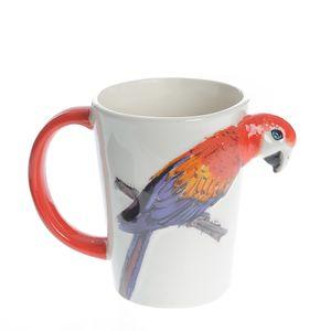 Cana 3D cu design papagal