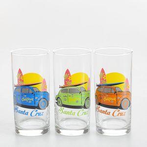 Set 3 pahare cu masini colorate 295ml