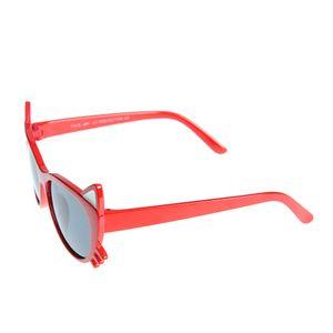 Ochelari de soare rosii cu forma de cap de pisica