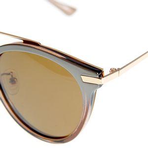 Ochelari de soare cu rama bicolora si lentile rotunde