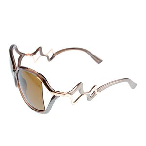 Ochelari de soare cu brate gri si design deosebit