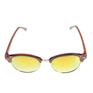 Ochelari de soare cu lentile rotunde aurii