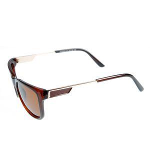 Ochelari de soare maro cu brate cu model