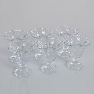 Set 6 cupe de inghetata din sticla 150ml
